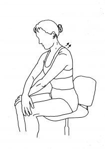 16 sitting in chair, shoulderblade stretch